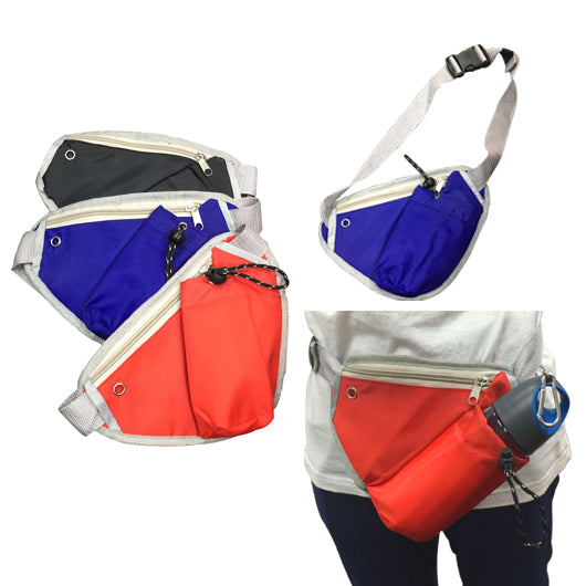 Triangular Waist Pouch with zip & bottle compartment