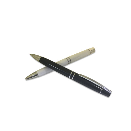 Metal Ball Pen with Silver Clip & Tip
