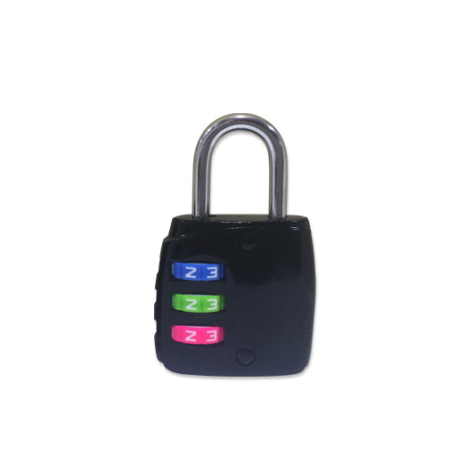 3-digit Lock with Coloured Number Dial