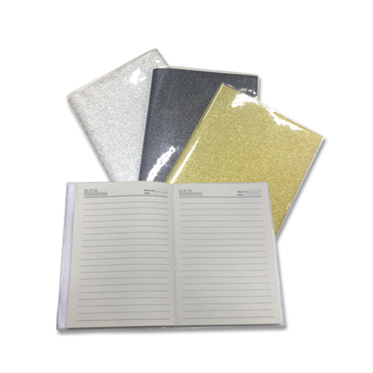 Shimmering A5 Notebook with PVC Cover