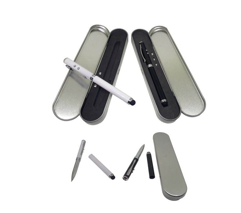 4-in-1 Pen with LED Light, laser pointer & stylus