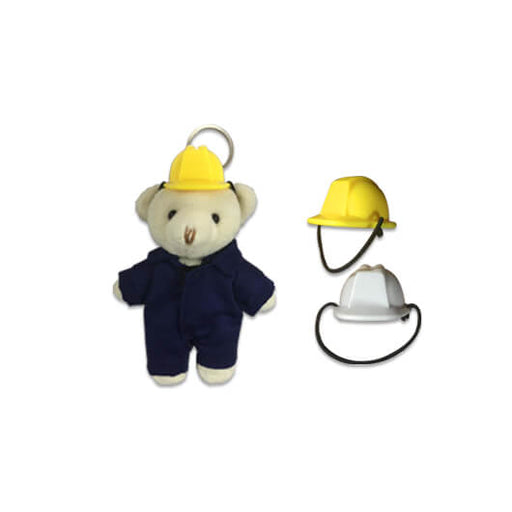 Mini Construction Helmet for keychain bear