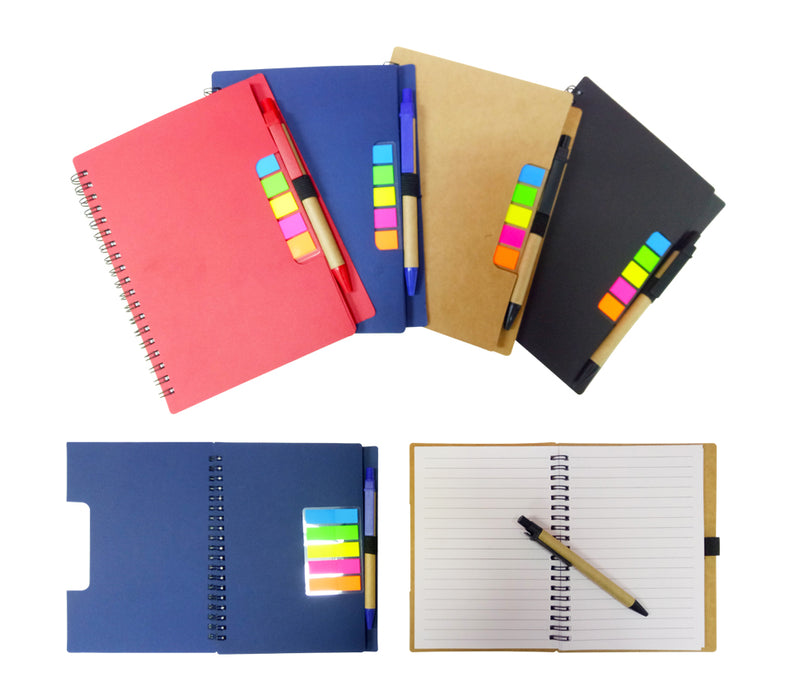 A5 ECO Notebook with pet sticky tab & pen (80 sheets)
