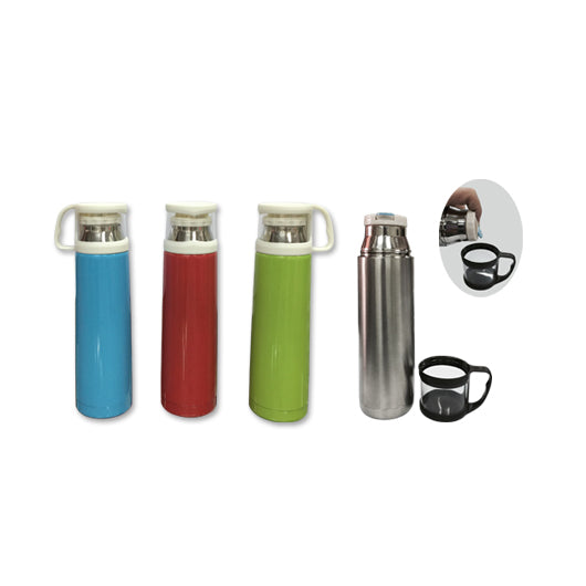 500ml Stainless Steel Vacuum Flask with Cup Lid