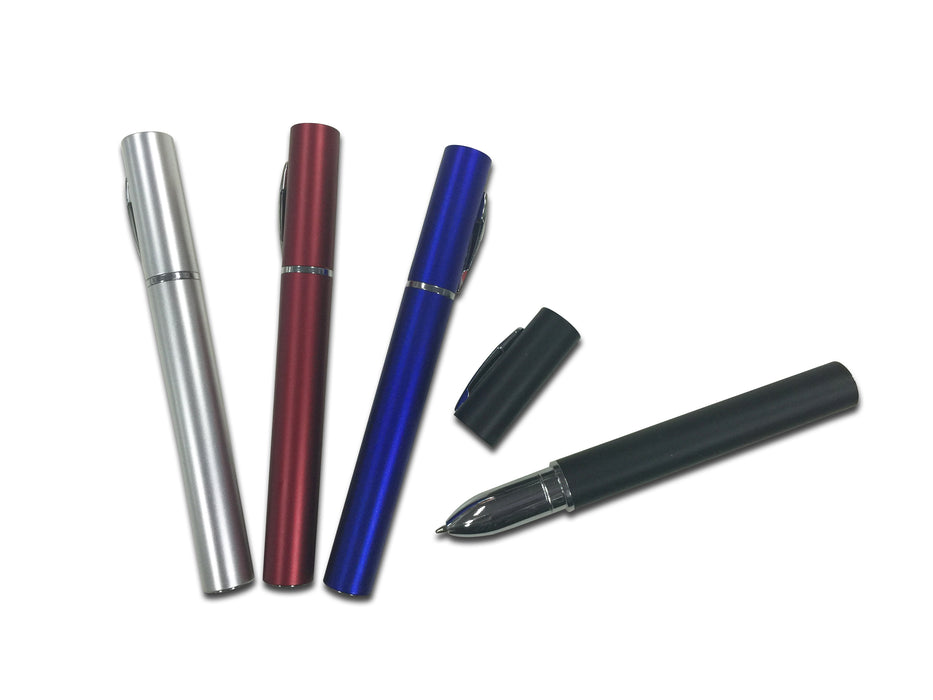 Metallic Plastic Pen with Cap