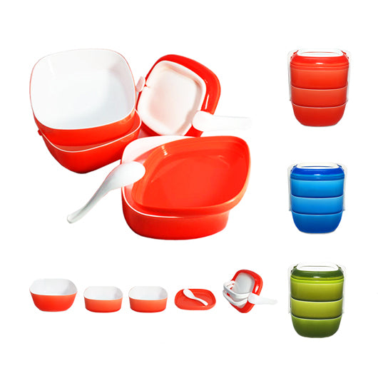 3-tier Lunch Box with Spoon