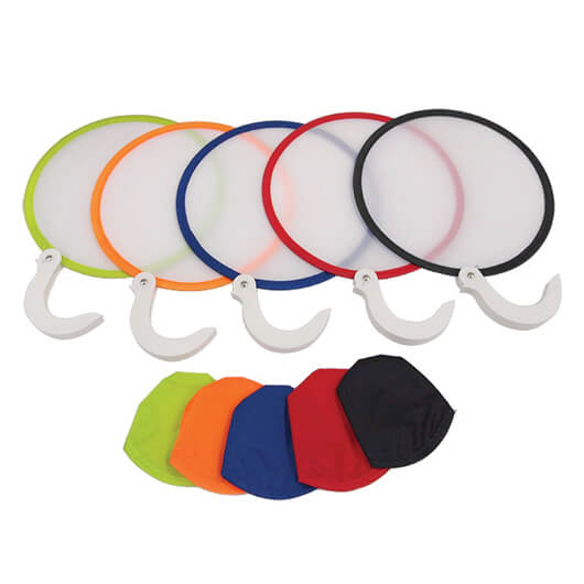 2-tone Foldable Fan with Handle