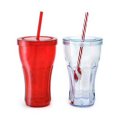 Overla Tumbler With Straw (Transparent)