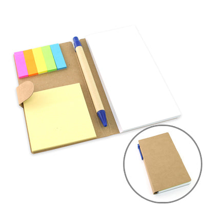 Eco-Friendly Notepad with Pen (Brown)