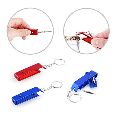 Ovetech Mini Tool Kit With Bottle Opener Keychain