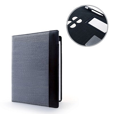 Albany A4 Conference Folder (Grey With Black)