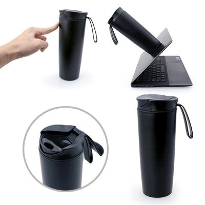 Might Double Wall Suction Tumbler (Black)