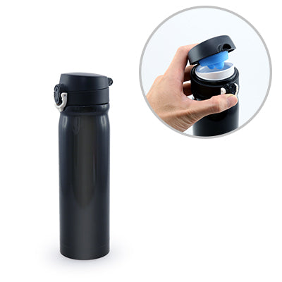 Quella Stainless Steel Vacuum Flask (Black)