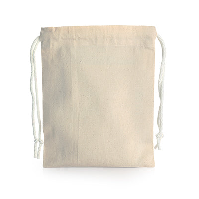 Drawstring Canvas Pouch (Natural)