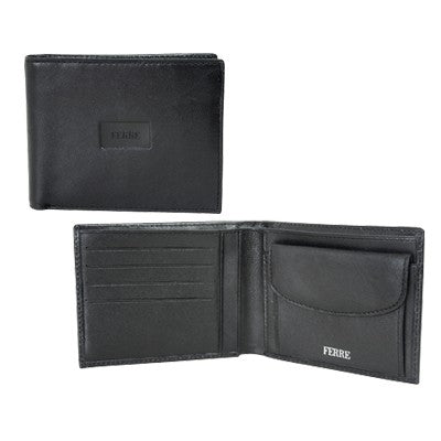 Ferre Man Leather Wallet W Coin Purse&Cr.card Holder