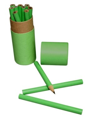 12pcs Wooden Pencil Set (Green)