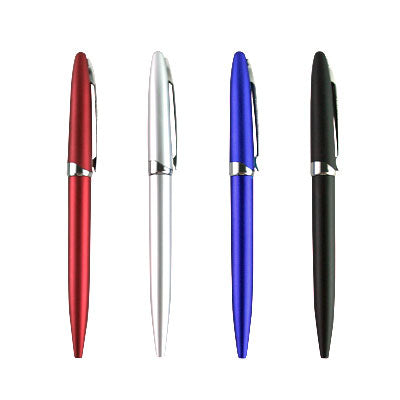 Spring Metallic Plastic Ball Pens