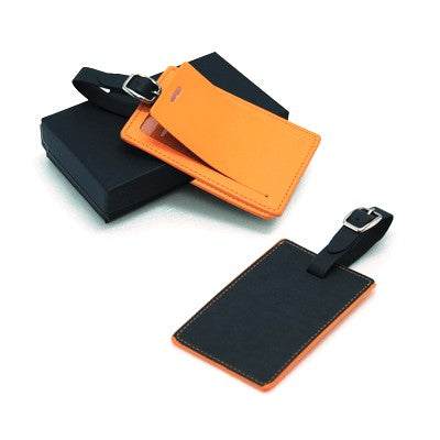 TED Luggage Tag (Black with Orange)