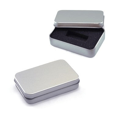 Tin Box with Sponge (Silver)