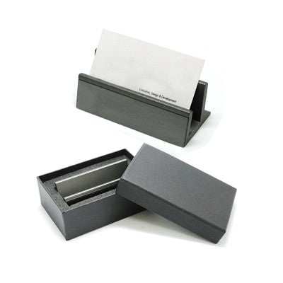 Gun Metal Name Card Holder (Grey)