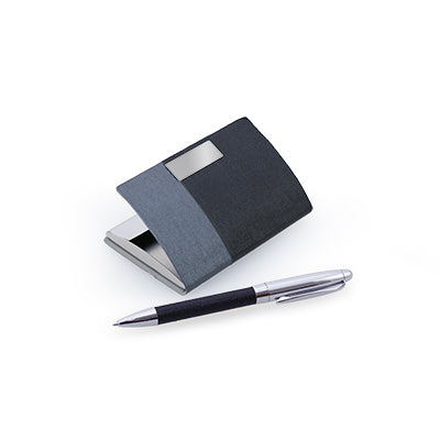 Nelkey Card Case With Metal Pen