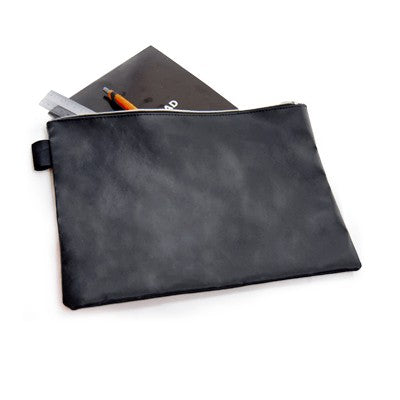 Leather Document Pouch (Black)