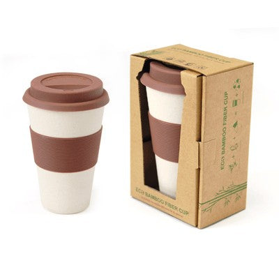 Bamboo Fibre Mug with Lid & Sleeve