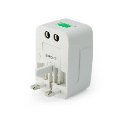 Universal Travel Adaptor With Pouch(White)