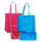 Foldable Shopping Bag w Button  (Blue)