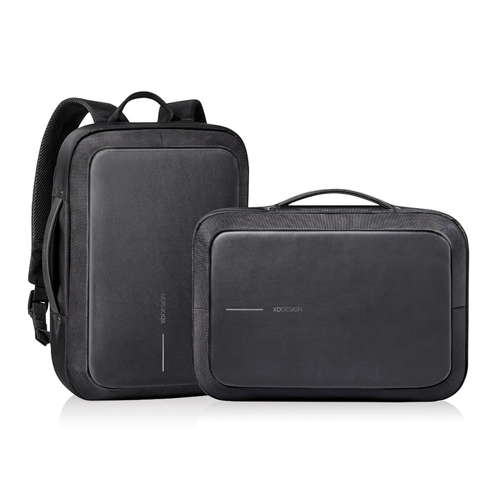 Bobby Bizz Anti - Theft Backpack & Briefcase (Black)