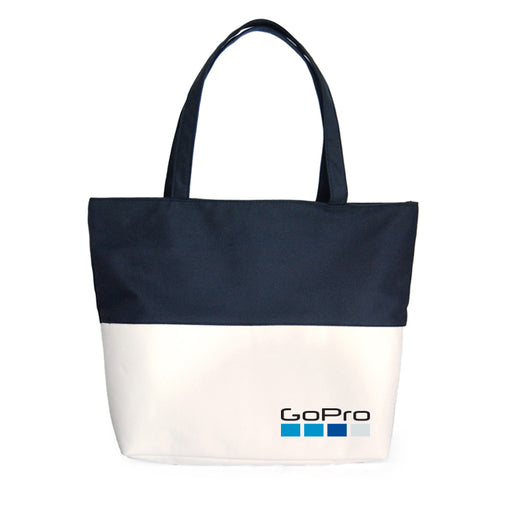 La-Tone Cotton Tote Bag (Black with White)