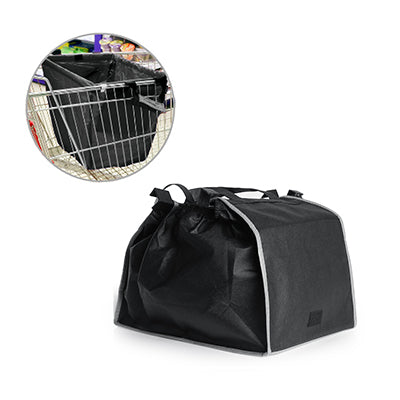 Sunlux Foldable Shopping Bag(Black With Grey)