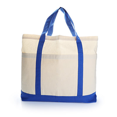 Voltrax Two - Tone Cotton Blue Tote Bag