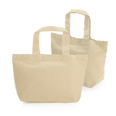 Mini Cotton Tote Bag (Natural)