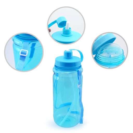 Bytrex Water Bottle With Straw (Blue)