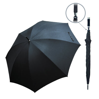 "30"" Manual Open Golf Umbrella (Black)"