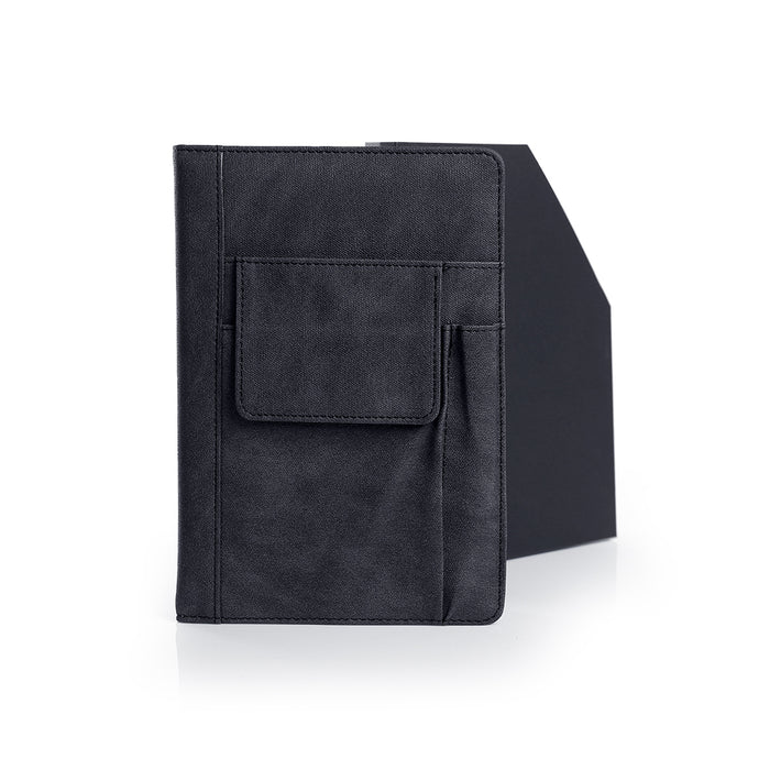 Luslax A5 Notebook With Pockets (Black)