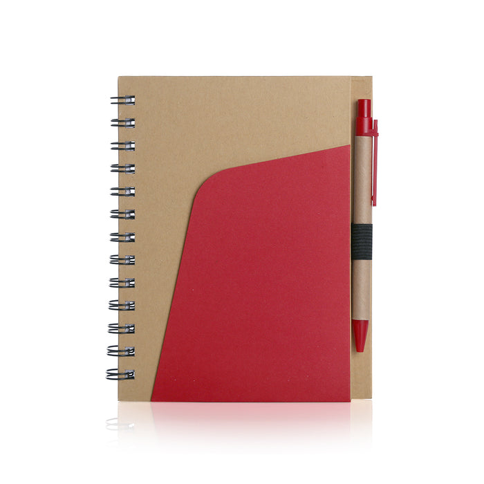 Eco-Friendly Notebook  Pen and Pocket