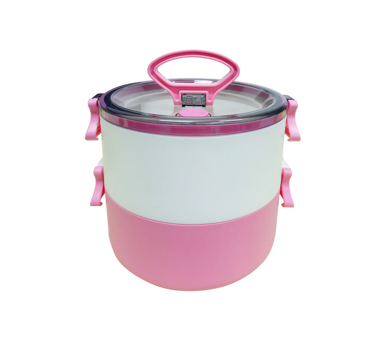 2-Tier Lunch Box with 2-in-1 fork & spoon (1.2L)