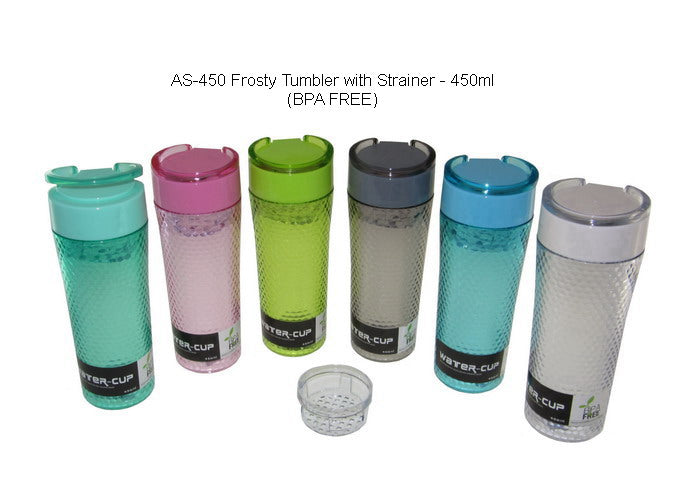 Frosty Tumbler with Strainer