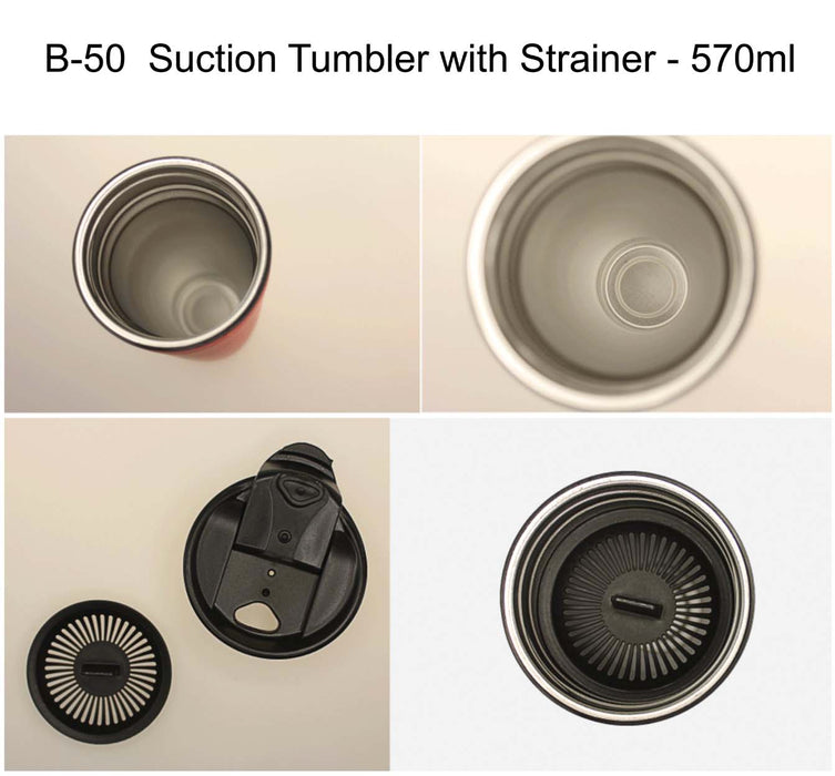 Suction Tumbler with Strainer