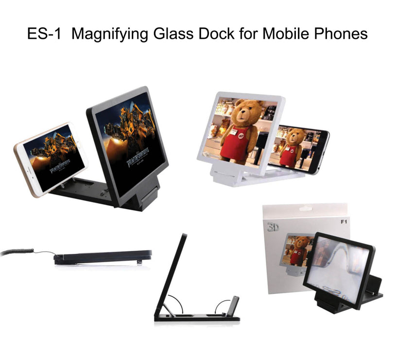 Magnifying Glass Dock for Mobile Phones