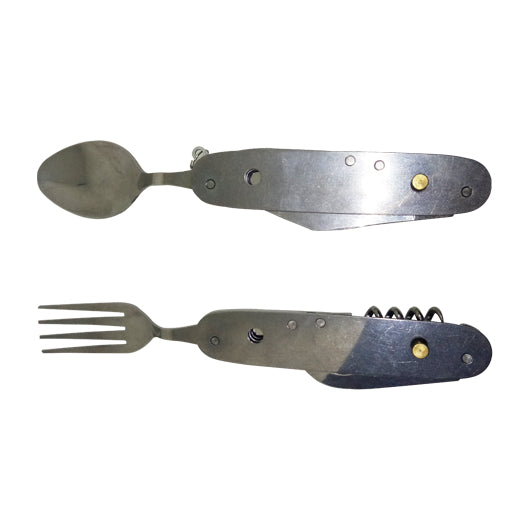Stainless Steel Multi-Tools with Fork & Spoon