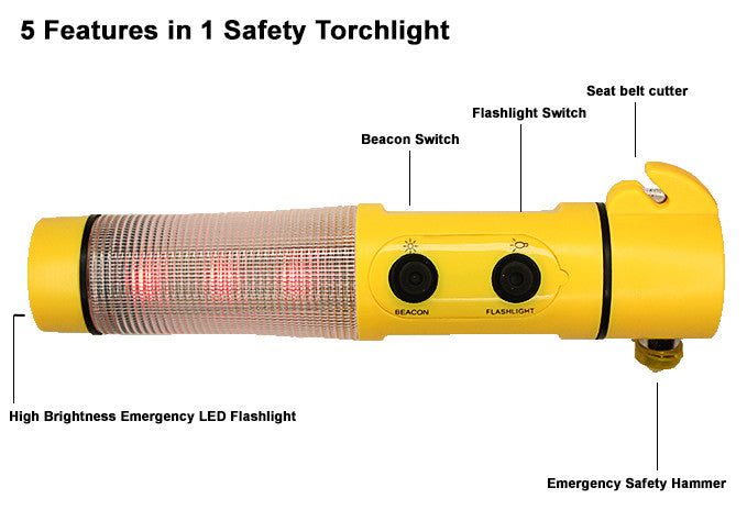 5-in-1 Safety Torchlight