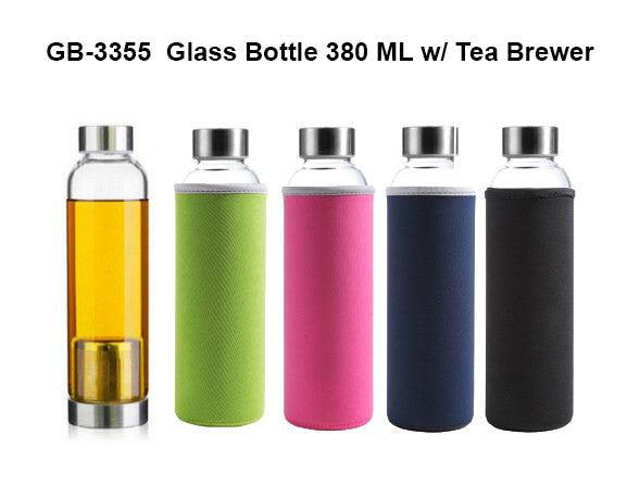 Glass Bottle with Tea Brewer