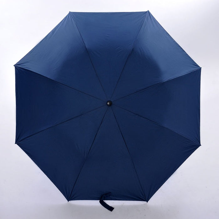 Black Handle Big Foldable Umbrella