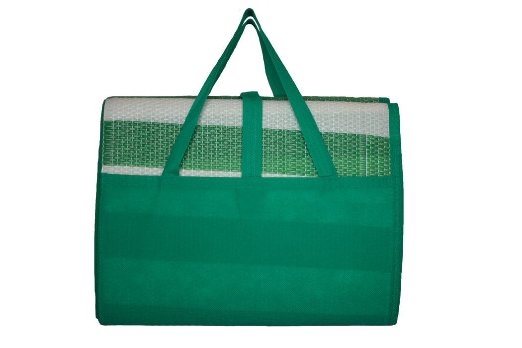 Beach Mat with Inflatable Cushion/ Pillow and Carrier Bag