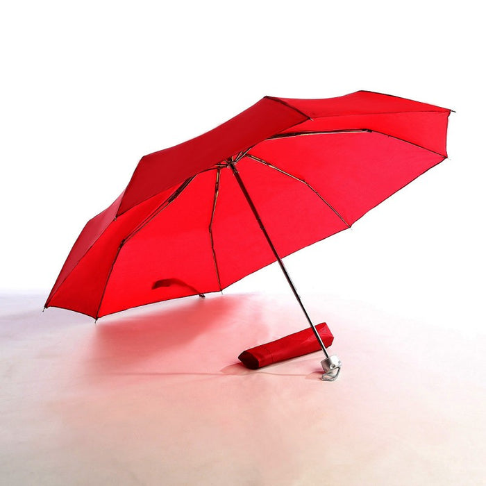 Three Fold Chrome Shaft Umbrella