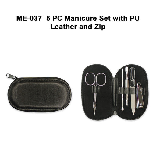 Manicure Set with PU Leather and Zip