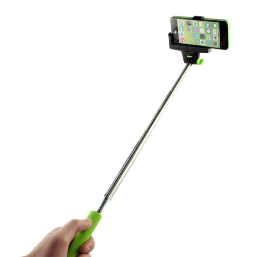Monopod with built in shutter